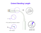 Genuine Apple MFI iPhone XR Headphone Adapter Lightning to 3.5mm Audio jack Aux 3