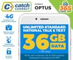Catch Connect 365 Day Mobile Plan - 36GB 1
