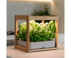 Wooden Kitchen Smart Garden With LED Grow Light - Stylish - Easy To USE 1