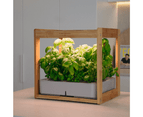 Wooden Kitchen Smart Garden With LED Grow Light - Stylish - Easy To USE 5