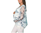 Lace Preppy Maternity Top 2
