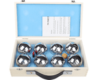 Deluxe Boules Bocce 8 Alloy Ball Set with Wooden Case 6