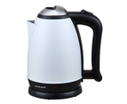 Bos & Sarino 2L 1850W White Full Stainless Steel Cordless Kettle 1