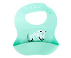 Set of 2 | Aussie Brand Lunart Ultra-Soft Lamb Silicone Bib in a Gift Bag  (Sky Blue & Coral Pink) 4