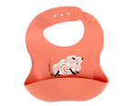 Set of 2 | Aussie Brand Lunart Ultra-Soft Lamb Silicone Bib in a Gift Bag  (Sky Blue & Coral Pink) 5