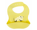Set of 2 | Aussie Brand  Lunart Ultra-Soft Lamb Silicone Bib in a Gift Bag  (Honey Bee Yellow & Coral Pink) 5