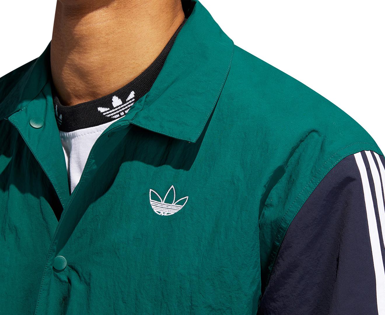 Adidas Originals Men's Trefoil Coach Jacket Collegiate GreenLegend Ink