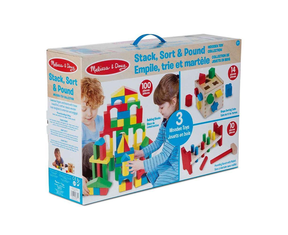 Melissa and Doug Classic Toy 100 en bois blocs