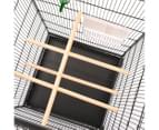 Bird Cage Grey 54x54x146cm with Stands 4 Wooden Perches Steel Aviaries 7