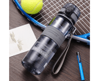 UZSPACE 1L Water Bottle BPA Free Tritan Made Drinkware for Sports - Grey 2