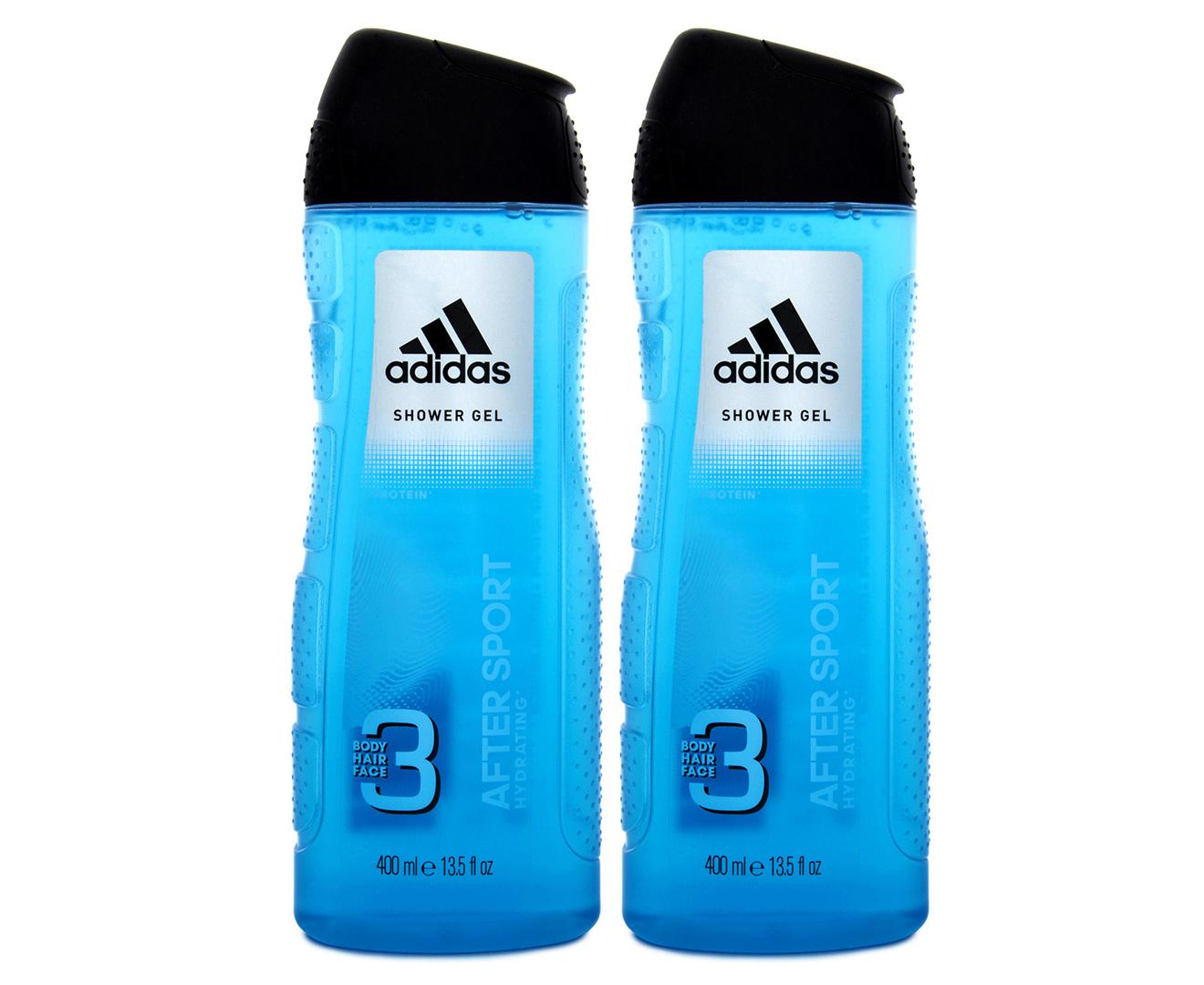 Cuota de admisión Envío Corrección  2 x Adidas After Sport 3-In-1 Shower Gel 400mL | Catch.com.au