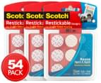 3 x Scotch Restickable Single-Sided Adhesive Dots 18-Pack - Stick photos, posters, lists and more! 1