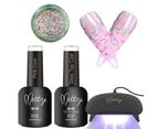 Mitty - Pure Gel Polish Bling Kit- Rainbow 1