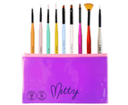 Mitty - Nail Art Brush Kit - Rainbow of Brushes 1