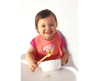 Set of 2 | Aussie Brand  Lunart Ultra-Soft Lamb Silicone Bib in a Gift Bag  (Honey Bee Yellow & Coral Pink) 6