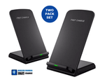 2-Pack Orotec 10W Fastcharge Wireless Charging Stand 1