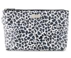 Wicked Sista Large A-Line Cosmetics Bag - Untamed White/Navy Leopard 1