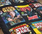 Star Wars Single Bed Quilt Cover Set - Black/Multi 2