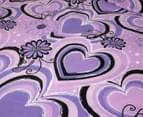 Origin Fancy U Queen Bed Quilt Cover Set - Violet 2