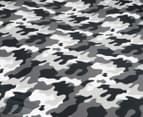 Kid's Workshop Army Single Bed Quilt Cover Set - Grey 3