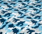Kid's Workshop Army Single Bed Quilt Cover Set - Navy 3