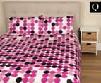 Origin Opus Queen Bed Quilt Cover Set - Mauve 1
