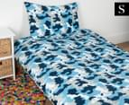 Kid's Workshop Army Single Bed Quilt Cover Set - Navy 1