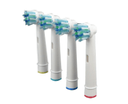 4pcs CROSS ACTION Oral B Compatible Electric Toothbrush Replacement Brush Heads 2
