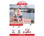 BERG Buzzy Bloom 2-in-1 Kids Go Kart White Pedal Bike Children Ride On Toy Car 4