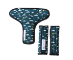 Keep Me Cosy Universal Pram Liner Set - Playful Plane (Deep Teal) 3