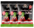 3 x Sugarless Confectionery Strawberry Cream Jellies 70g 1