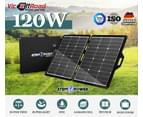 120W 12V Folding Solar Panel Blanket Kit Flexible Portable Battery Charging 2