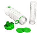 Bevgo Fruit Infuser Water Bottle - 750mL - Save Your Money and Hydrate The Healthy Way - Multiple Colours with Gift Included (Green) 2