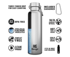Bevgo Classic Double Wall Vacuum Insulated Stainless Steel Water Bottle – 750 mL  (Blue) 3