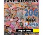Aqua One Tropical Cichlid Fish Flake Aquarium Pond Food 20Gr FRESH GUARANTEED 3