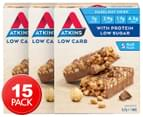 3 x Atkins Low Carb Day Break Bars Chocolate Hazelnut Crisp 37g 5pk 1