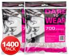 2 x Dare to Wear Premium Cotton Buds 700-Pack 1