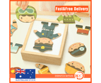 Fashion Baby Bear Boy Change Clothes Puzzle Block Wooden Jigsaw Toy Kids 4