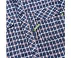 Kathmandu Koruna Men's Long Sleeve Insect repellent UV protection Hiking Shirt  Men's  Casual Shirt - Blue Check 4