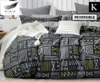Gioia Casa Alex Fully Reversible King Bed Quilt Cover Set - Multi 1