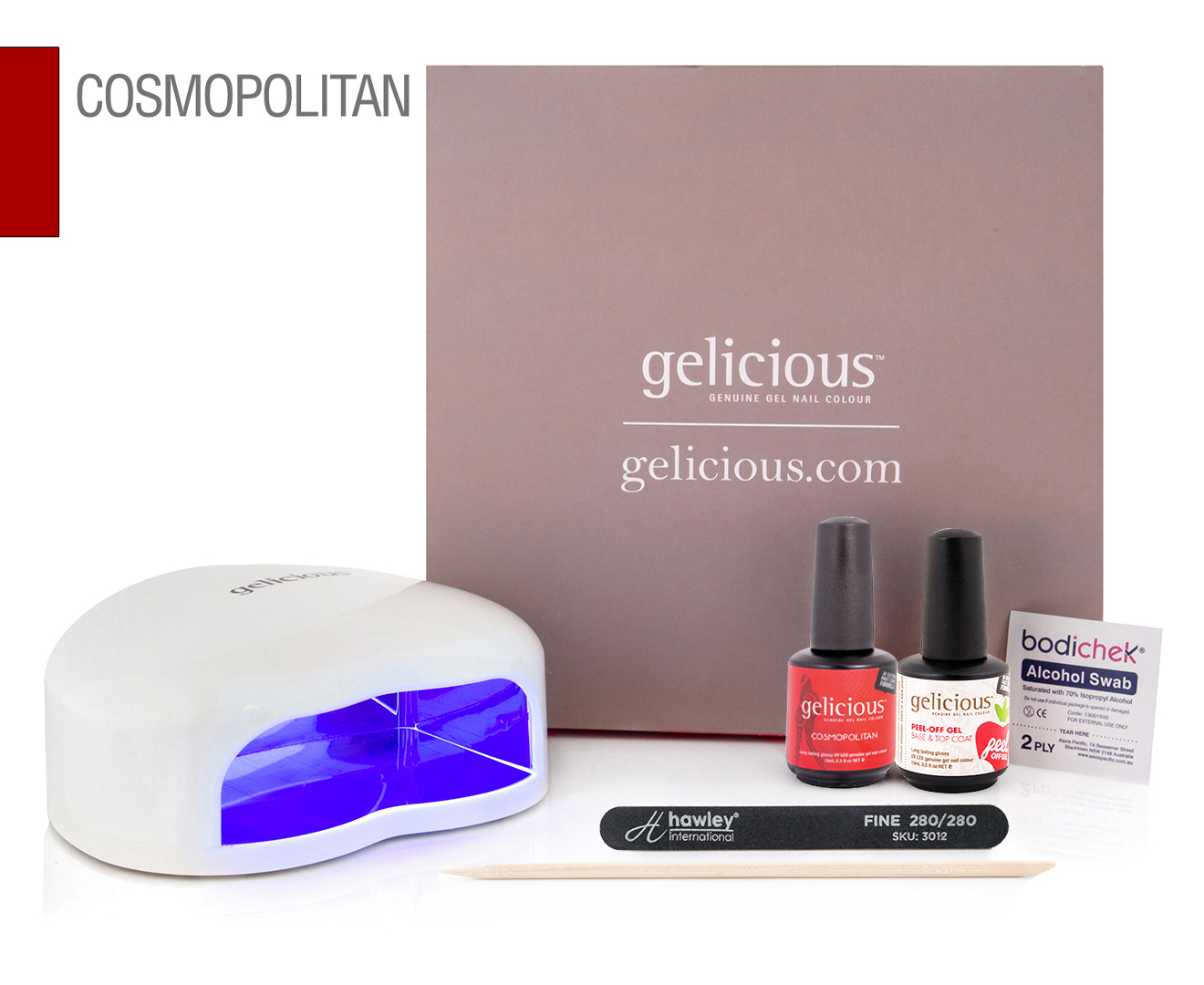 Gelicious Gel Nail Polish Starter Kit - Cosmopolitan | Catch.com.au
