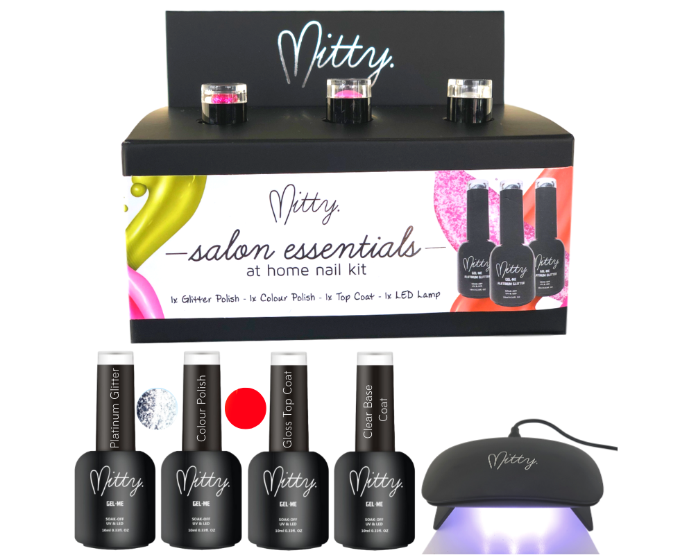 Mitty - Salon Essentials at Home Nail Kit - Babe Silver