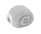 Furrytail Little Snail Cat Bed - Grey 1