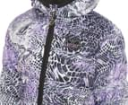 Skechers Toddler Girls' Bubbles Water Resistant Jacket - Snake Print 4