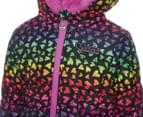 Skechers Toddler Girls' Bubbles Water Resistant Jacket - Heart Print 4