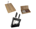 Tramontina Anniversary Set - Chef Knives, Steak Knives, Knife Block and Wooden Serving Board 1