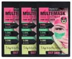 3 x Beauty Formulas Multi-Mask For Oily Skin Face Treatment 15g 1