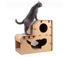 Pet Cat Cardboard Claw Scratcher Corrugated Big House Play Toy Interactive 58CM 1