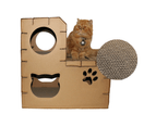 Pet Cat Cardboard Claw Scratcher Corrugated Big House Play Toy Interactive 58CM 4