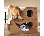 Pet Cat Cardboard Claw Scratcher Corrugated Big House Play Toy Interactive 58CM 6